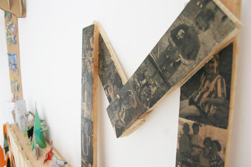 DEF Deco - Decorar en familia: Diy letra de madera con fotos8