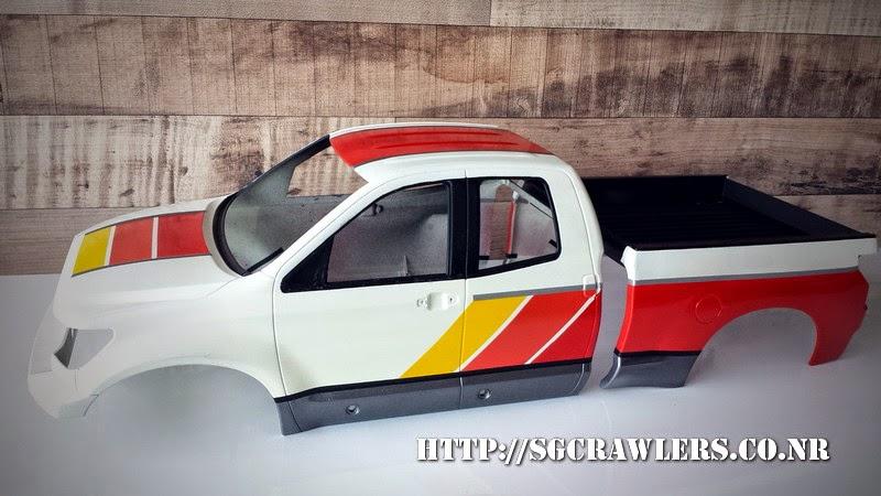 tamiya - Boolean21's Tamiya Highlift Tundra - new paint scheme - Ivan Stewart Toyota Theme 20140802_174554