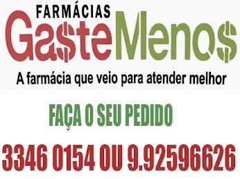 FARMÁCIA GASTE MENOS - O MELHOR ATENDIMENTO E PREÇOS PROMOCIONAIS EM MEDICAMENTOS