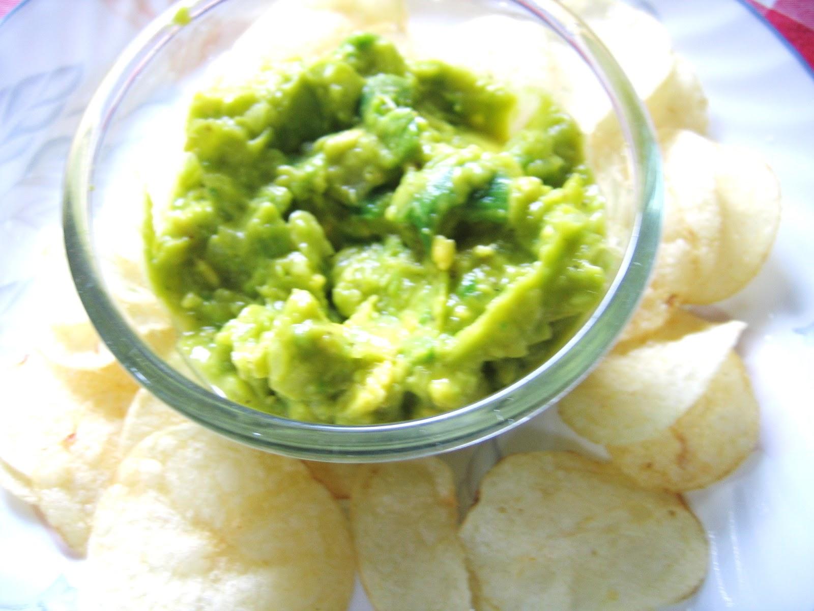 Edible Items: Avocado Dip (Guacamole) with Lay