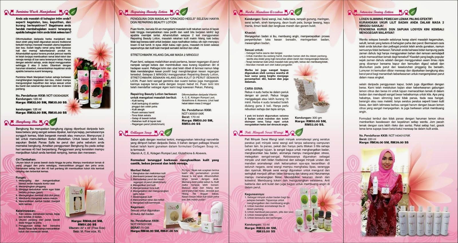 Nawal Herbal Beauty Testimoni Sabun Kolagen Rose Brochur Nhb
