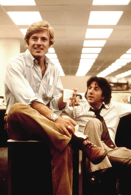 I talked to one reporter and his first reaction was that (All the President's Men) would open with Ray Bolger dancing his ...