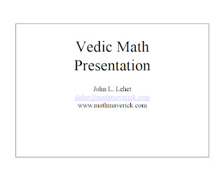 Vedic Mathematics & Fast Maths