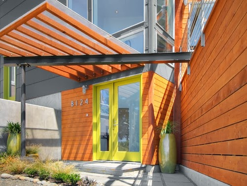 Mad for Mid-Century: Green Modern Front Doors