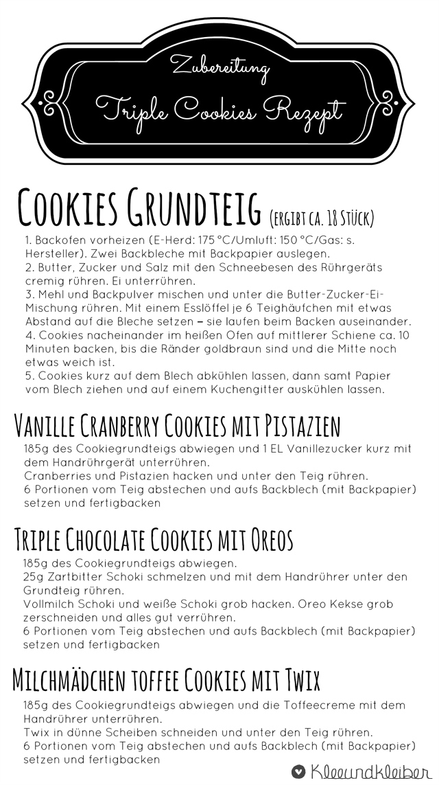 Cookies Recipe Kleeundkleiber