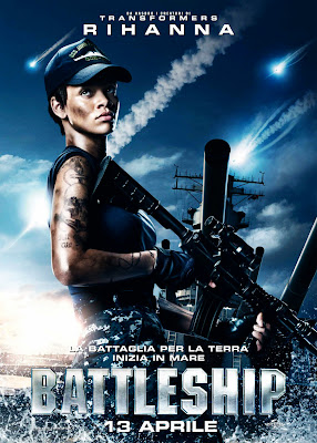 Battleship Movie Rihanna with M4 Rifle  Poster in HD