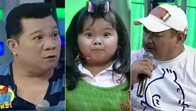 Allan K., Ryzza Mae Dizon and Jimmy Santos on Eat Bulaga's Ang Joke Ko.