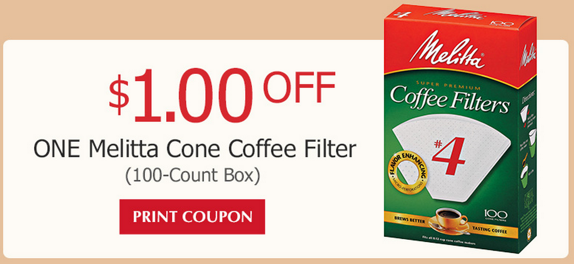 image regarding Conair Printable Coupons known as Intense Couponing Mommy: $1.00/1 Melitta Espresso Filters