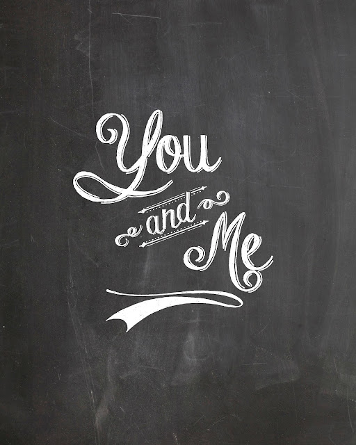 You and me chalkboard printable print | Free Chalkboard fonts