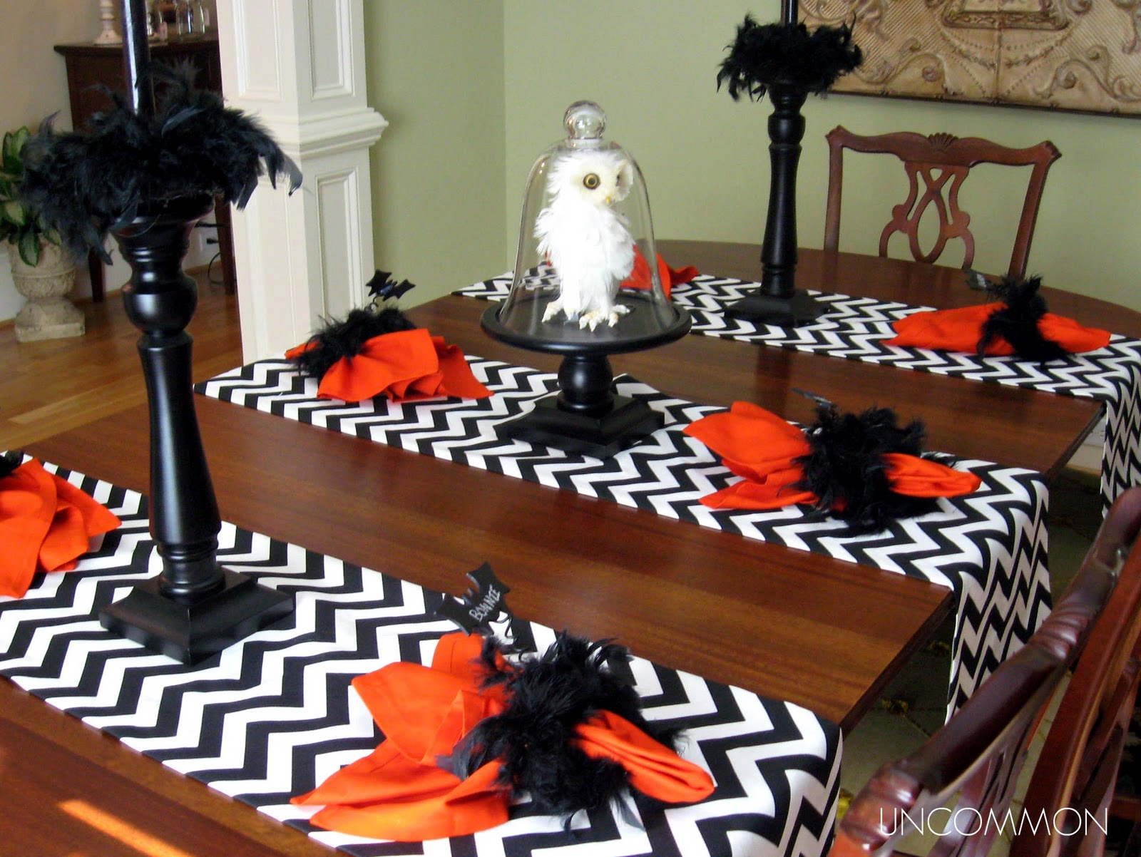 it 39 s written on the wall halloween tablescape now some. Black Bedroom Furniture Sets. Home Design Ideas