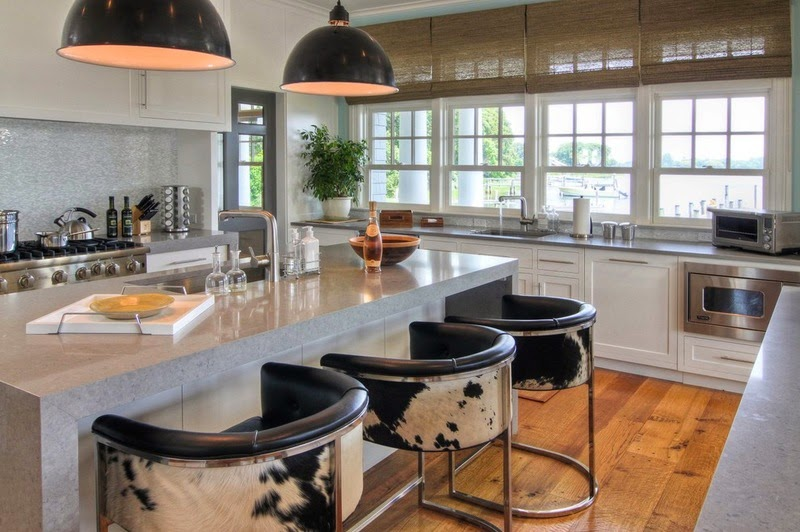 Bar Stools Present The Perfect Opportunity For Some Personality. These  Calvin Stools Add A Contemporary Twist To This Otherwise Traditional Kitchen .