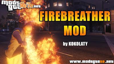 V - Mod FireBreather (Cuspir Fogo) para GTA V PC