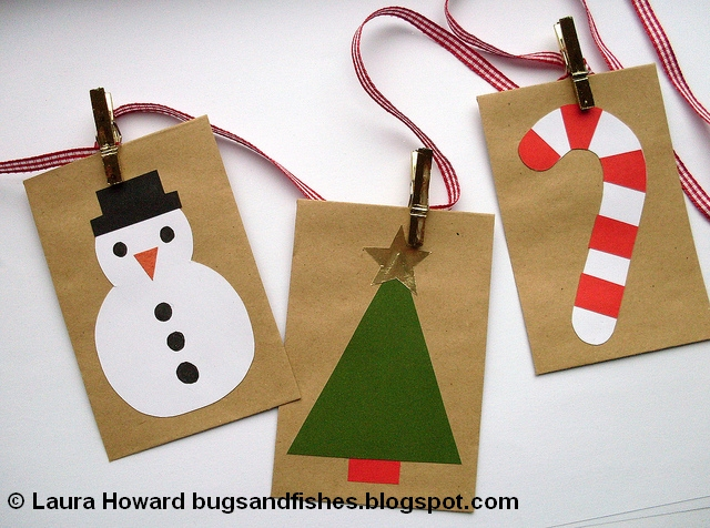 bugs and fishes by lupin diy christmas cards advent garland