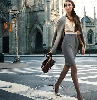 Gray Fashion Skirt