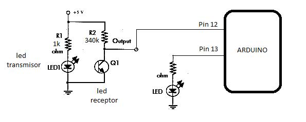 Circuito Emisor Receptor : Programación electrónica circuito emisor receptor