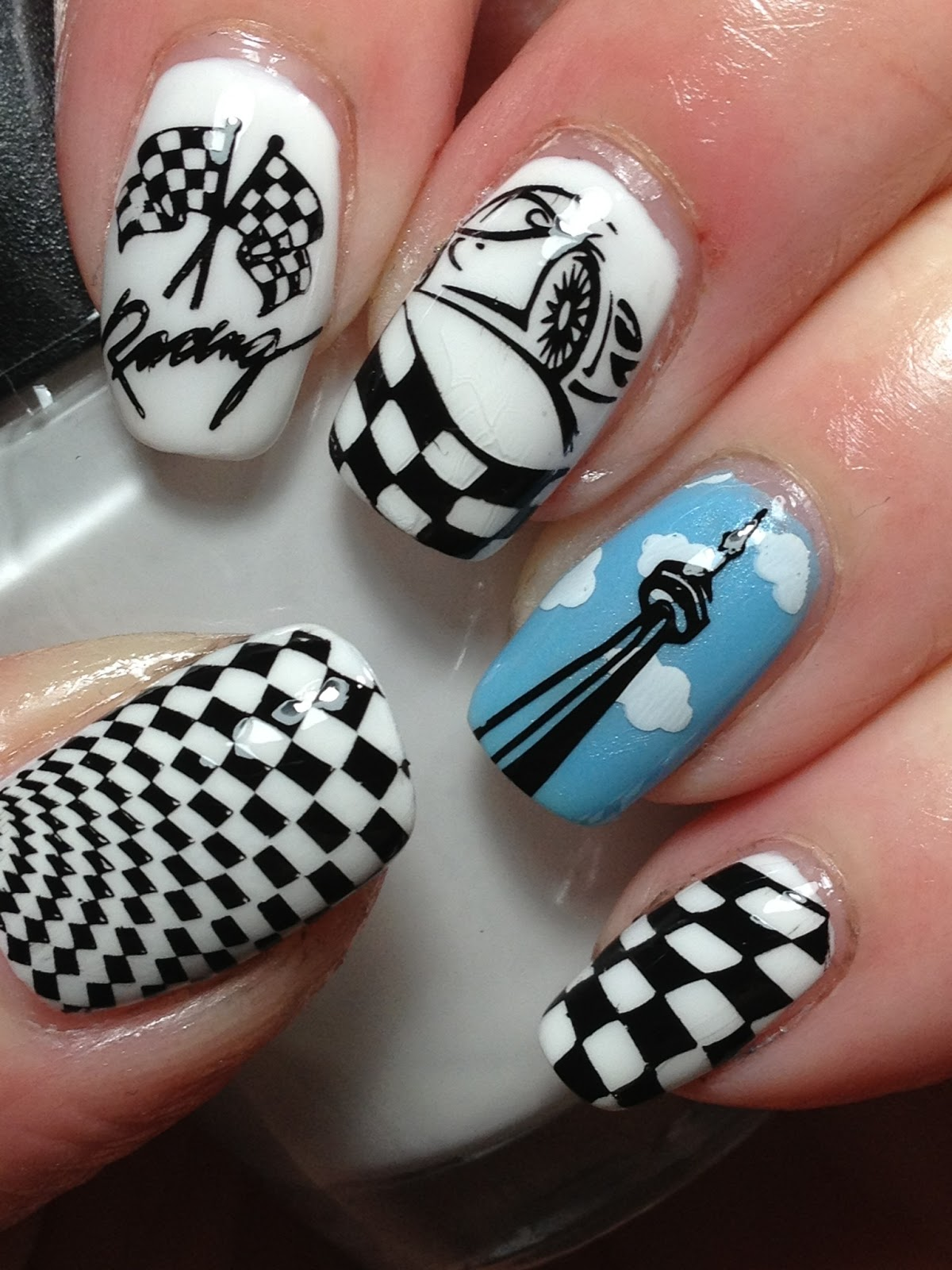 Indy 500 nailsus new plates nail art ideas prinsesfo Gallery