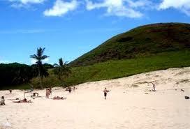 Ovahe una playa en Isla de Pascua