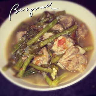 Cooking Pork Sinigang