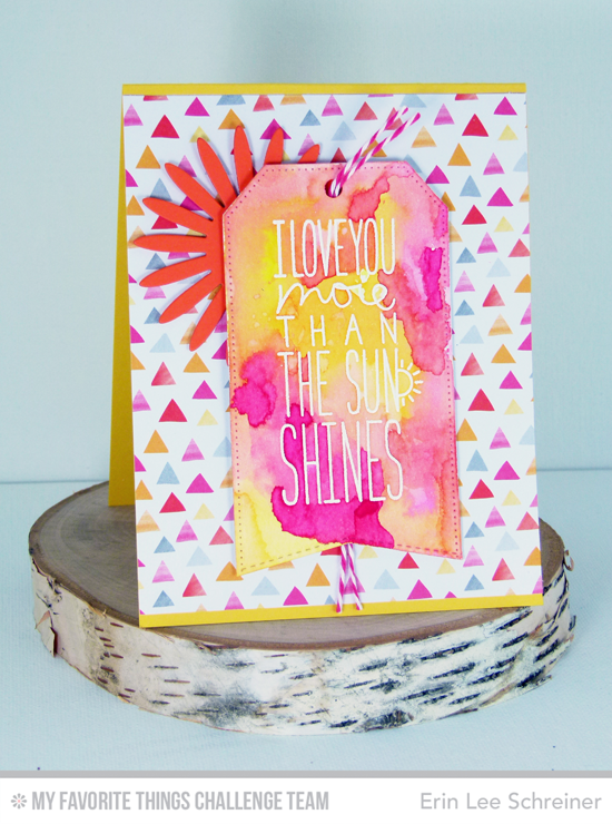 More than the Sun Card from Erin Lee Schreiner featuring the I Love You More stamp set and Gerbera Daisy Die-namics