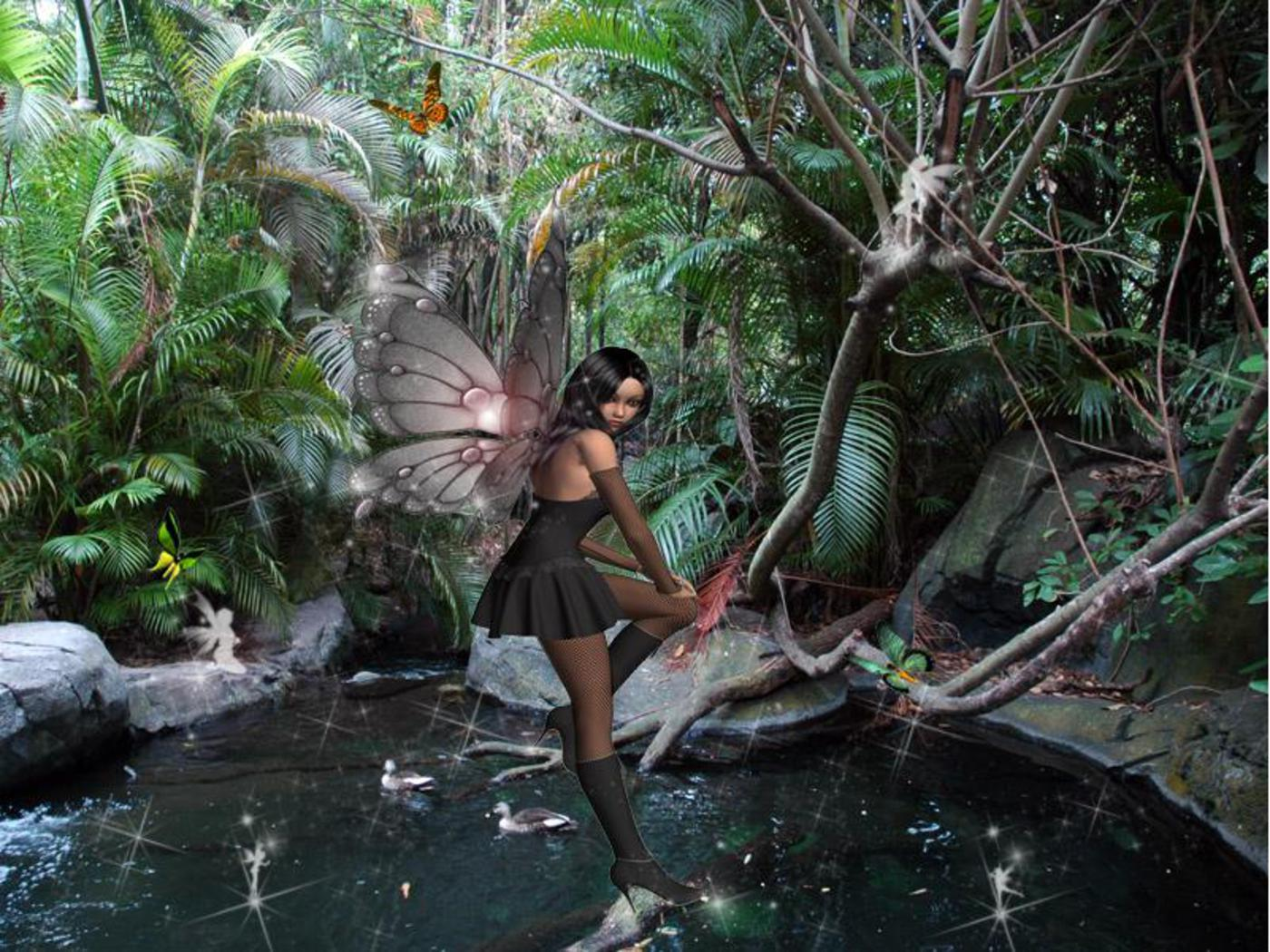 November 2012 fairy background wallpapers for My garden 3d