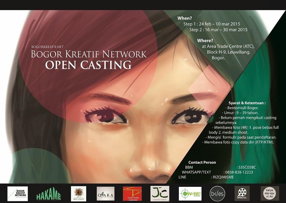 Open Casting Buat Kamu Sekitar Bogor