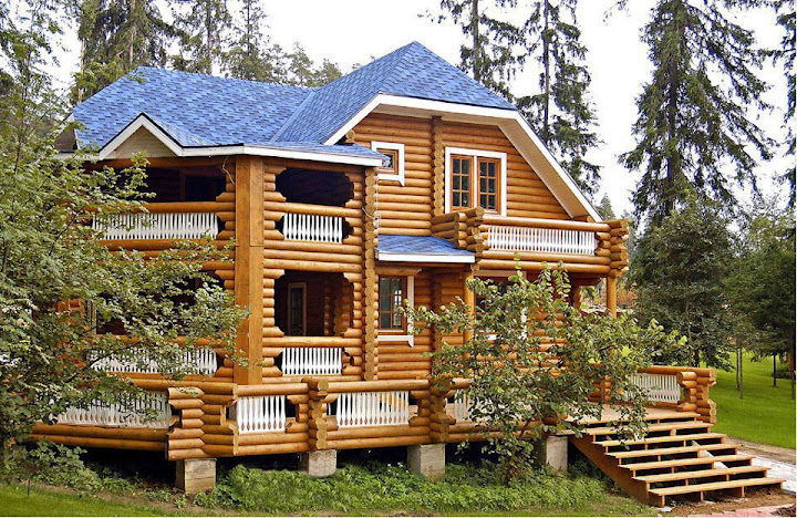 Preciosas im genes de casas y caba as bloggergifs Homes with lots of beautiful natural wood