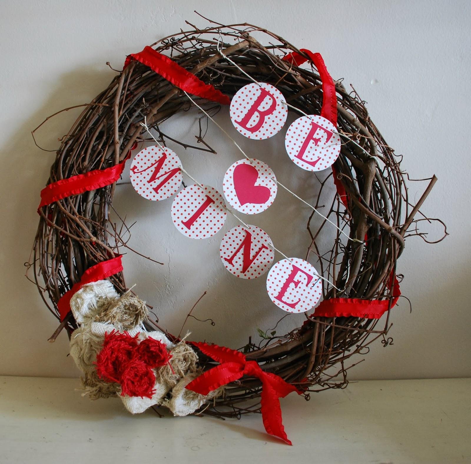 Snippets Of Creations Diy Valentine S Day Door Wreath