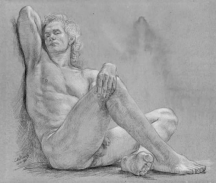 Desnudos Artisticos Dibujos De Hombres A Lapiz