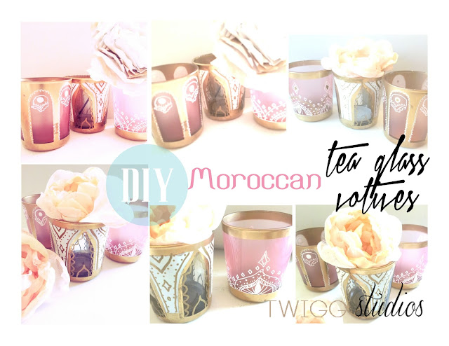 diy moroccan tea glass votives