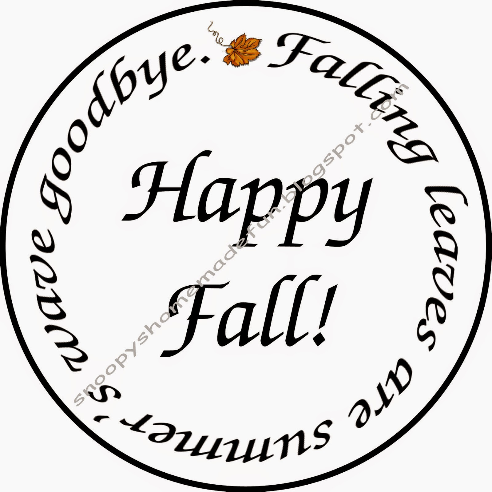 Fall, Autumn, Leaves, Free Digital Stamp