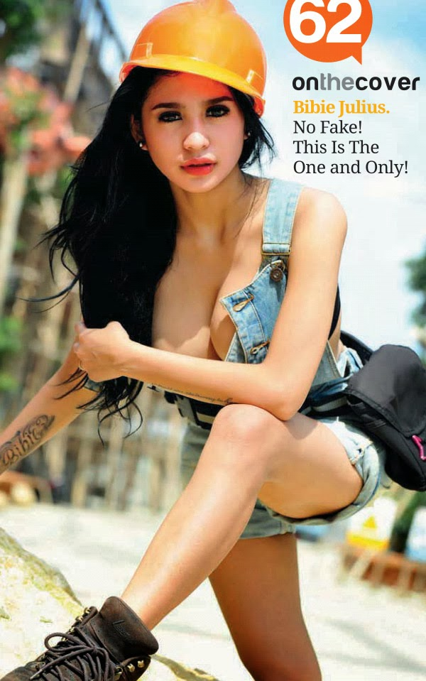 Foto Bibie Julius di Cover Majalah Popular Maret 2013