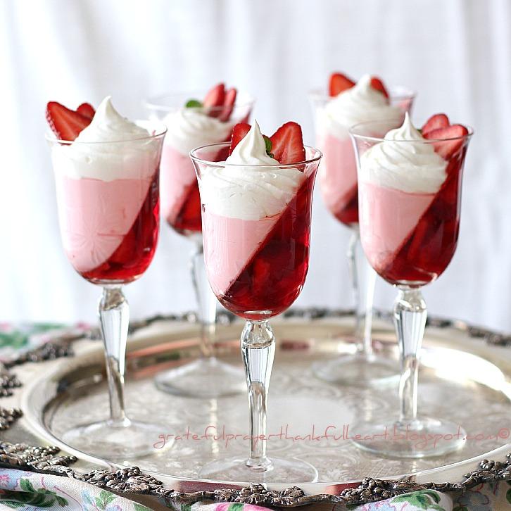 Jello Strawberry Parfait | Grateful Prayer | Thankful Heart