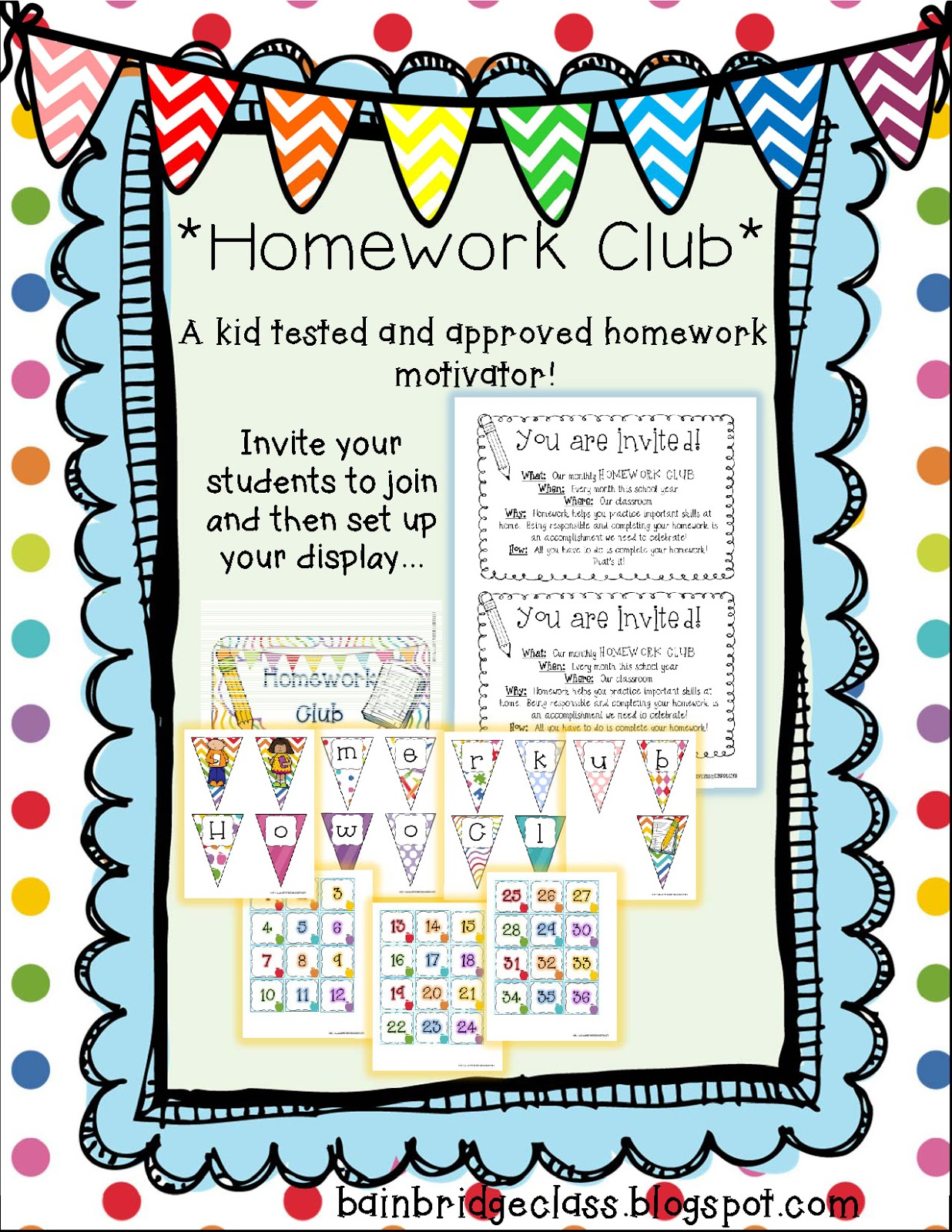 Bunting, Books, and Bright Ideas*: Homework Club, Oh Homework Club ...