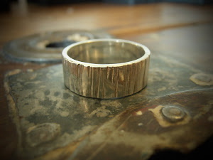 Sterling Silver Bark Textured Ring