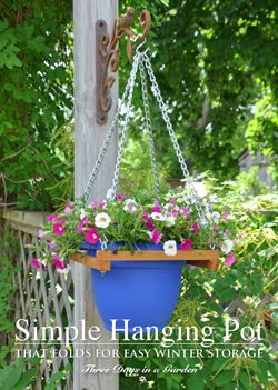 New! Simple DIY Pot Hanger that folds for Easy Storage