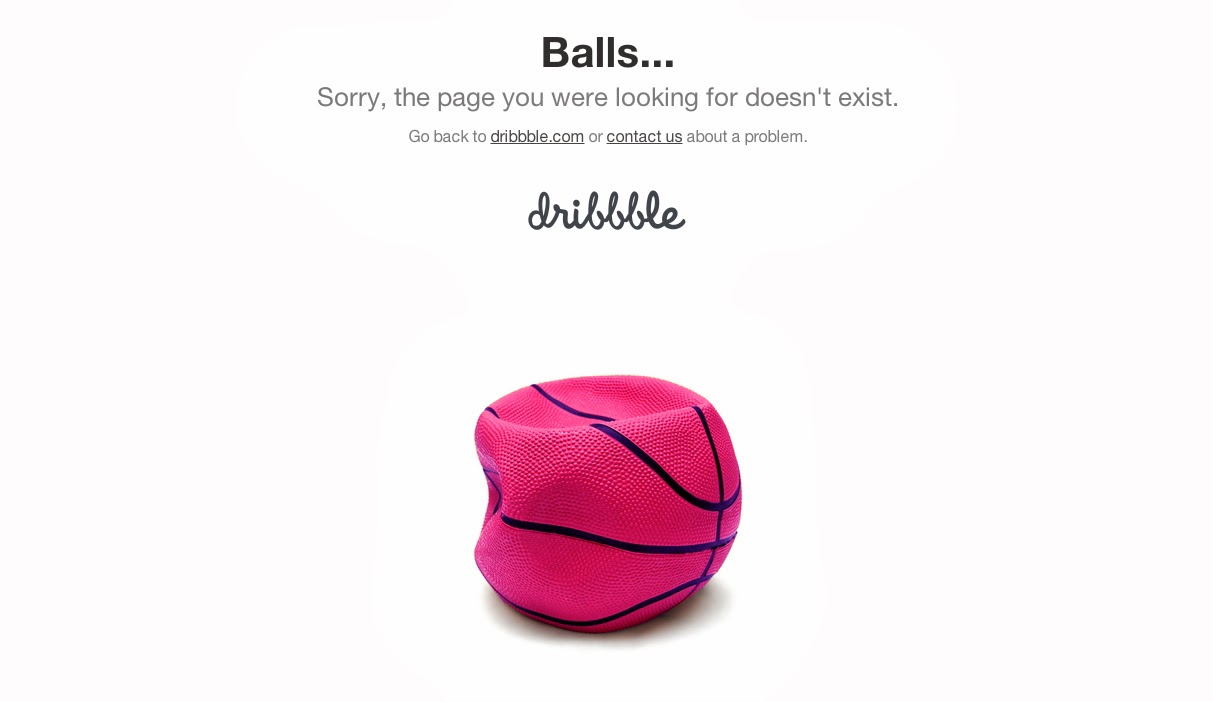 Dribbble 404