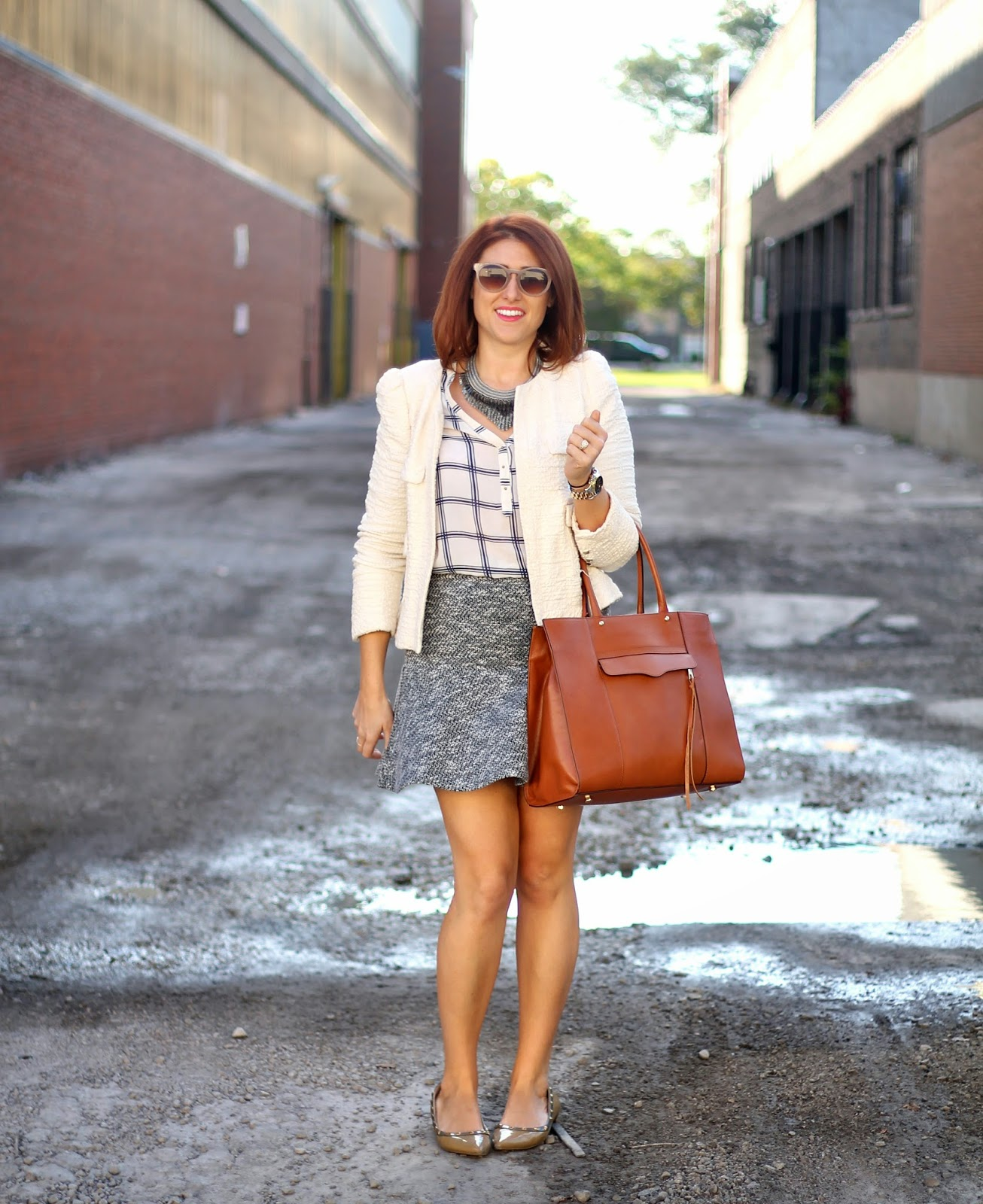 loft, flippy, skirt, tweed