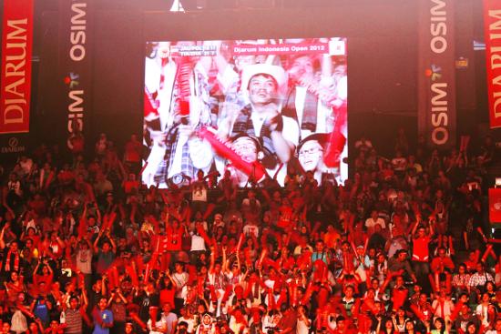 Supporter di Istora Senayan