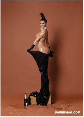 Kim Kardashian naked in Paper Magazine Winter 2014