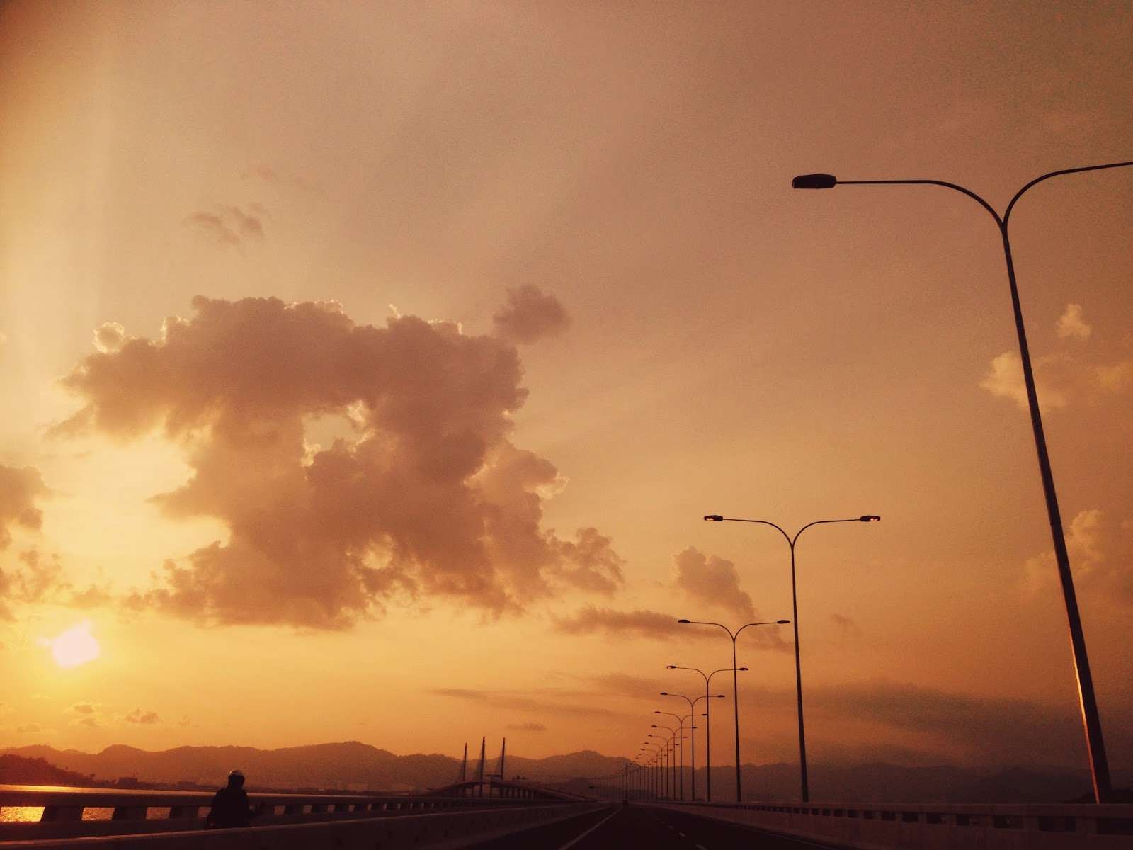 Second Penang Bridge at sunset