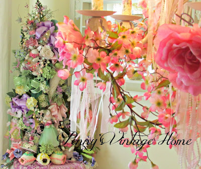 pastel floral Easter Tree