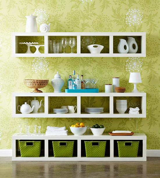 Ideas Para Decorar Baños Con Poca Plata:DIY Dining Room Wall Shelf Ideas