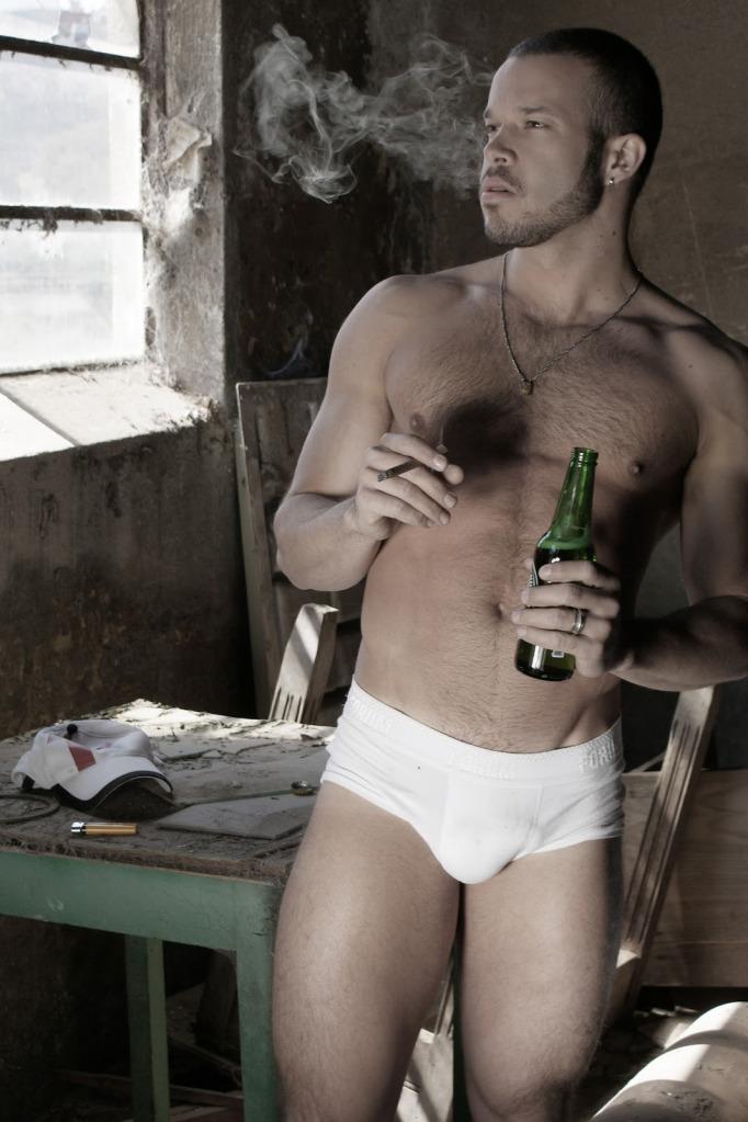Naked guy smoking weed, asian marinade honey and ginger