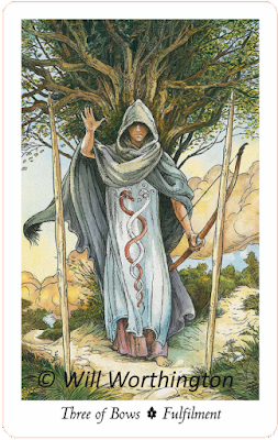 The Wildwood Tarot, Three of Bows