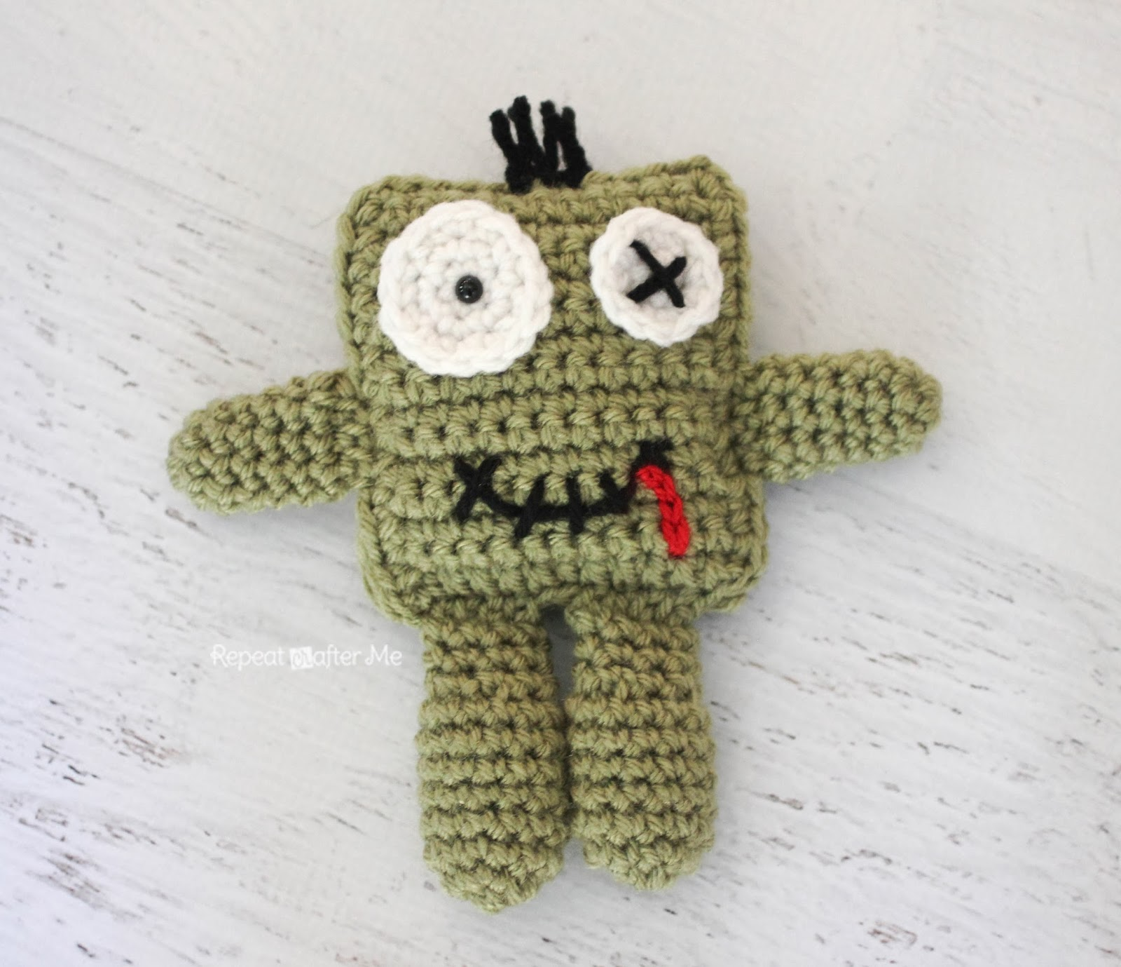 Repeat Crafter Me: Friendly Crochet Zombie Doll