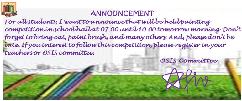 Contoh Announcement