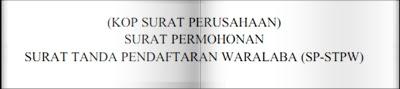 stpw surat tanda pendaftaran waralaba