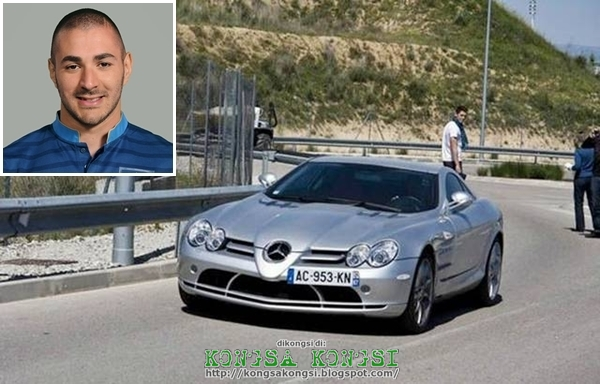 photo of Karim Benzema Mercedes-Benz SLR McLaren - car