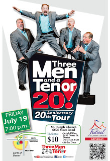 Three Men and a Tenor<br>July 19th at 7pm