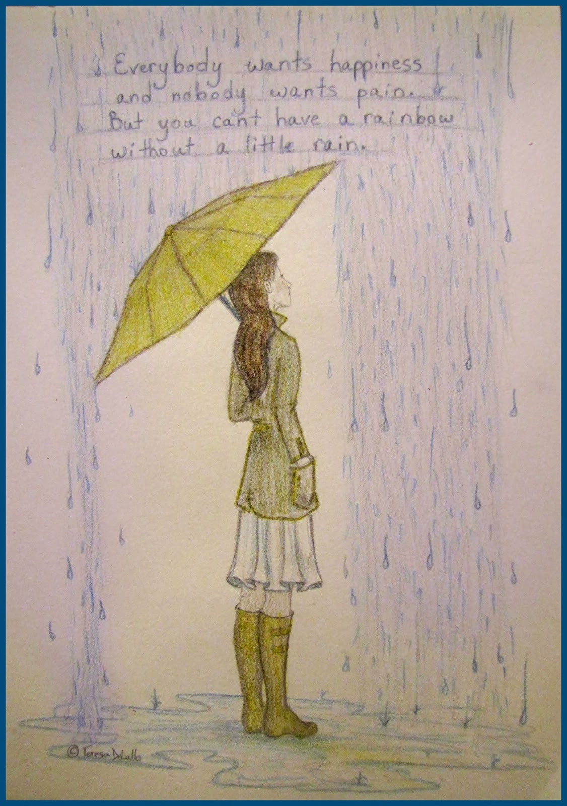 character sketch of the girl in the umbrella man Character girl eps10 girl with umbrella and raincoat playing in the mud a vector illustration of girl with umbrella and raincoat playing in the mud cute young man in raincoat boy in yellow raincoat.